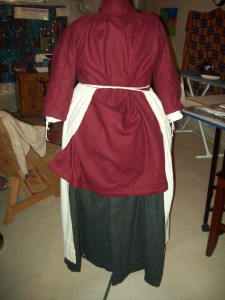 Back of my first 18th century outfit