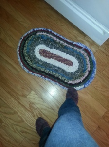 First Crocheted rag rug