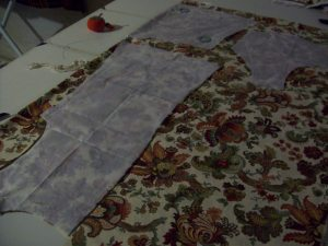 Cutting out paisley shell