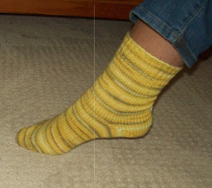 My first top down sock. This is one of only two pairs of socks I've knit in the last 7 years