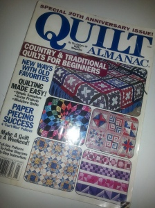 My one and only Quilt Almanac magazine from 2000