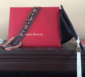 The keepsake sash with diploma