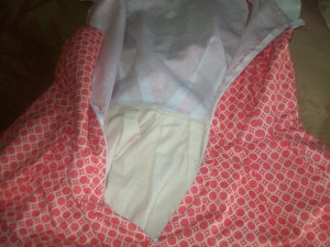 I lined this dress with muslin. you can see the interesting waist dart detail  in this picture