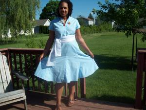 Simplicity 3877  Loving the godets in the skirt