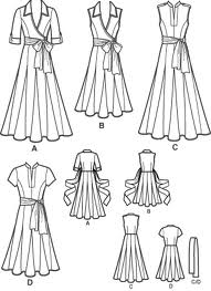 Simplicity 3877 sketch Had I looked at the sketch before I bought this pattern I may have shyed away from the godets. So glad I tried this one. Godets are easy to do.