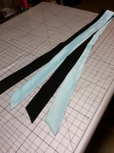 2 combined sashes with the ends left loose