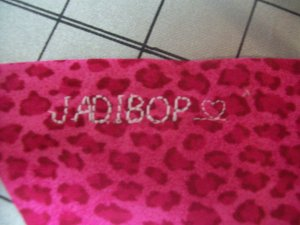 I stitched her nickname on the tie end for a little fun. (I wonder how long before she's too cool to let me call her JadiBop:-)