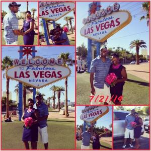 Vegas wedding. My sister and brother-in-law renewied their vows at the Las Vegas sign. 10 yrs and counting