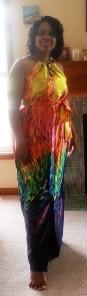 Simplicity 1355 with rainbow fabric