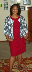 Simplcity 1630 dress with Sew Chic Jersey Style Bolero
