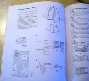 Simple instructions with diagrams. Jacket has only 3 patterns pieces
