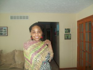 Wrapped up in the dragonfly shawl