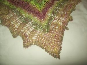 double crochet chain border used for the dragonfly shawl