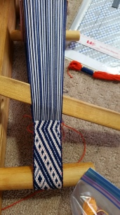 supplementary warp patterned weave