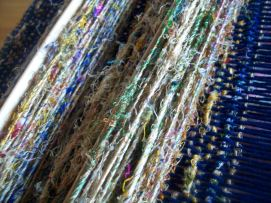 recycled sari silk yarn used for weft