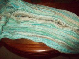 Spot dyed moreno wool plied
