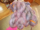 finished handspun llama skeins