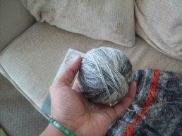 chained plied ball of yarn