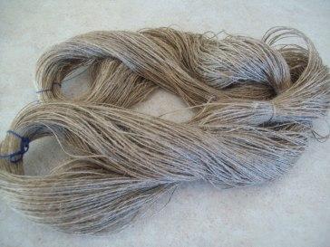 handspun flax skein