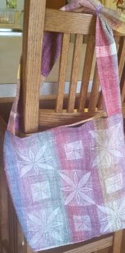 block printed woven bag