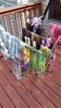 Some of the yarn and roving from dye day at Ginni's