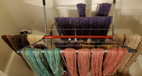 drip drying the new yarn