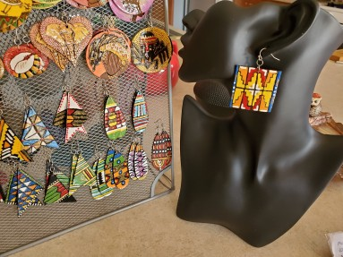 colorful earring creations